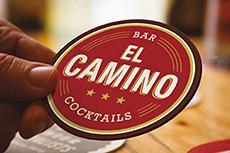 Création de l'identité viselle d'un bar cocktails EL CAMINO